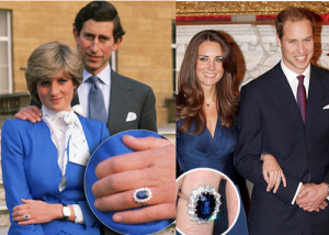 Engagement Rings Princess Diana and Kate