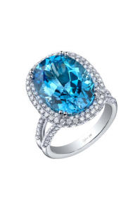 Engagement Ring Trends for 2015 Colourful Stones