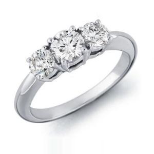 Three Stone Engagement Ring 1