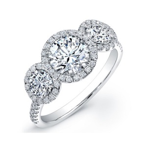 Three Stone Engagement Ring 4