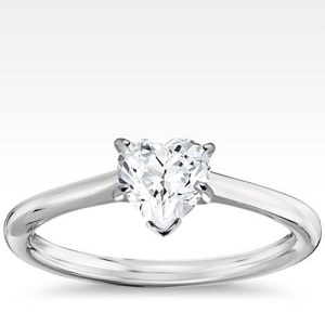 Heart Shaped Engagement Ring 1