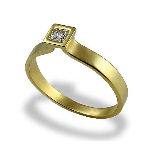 Square Engagement Ring Contemporary