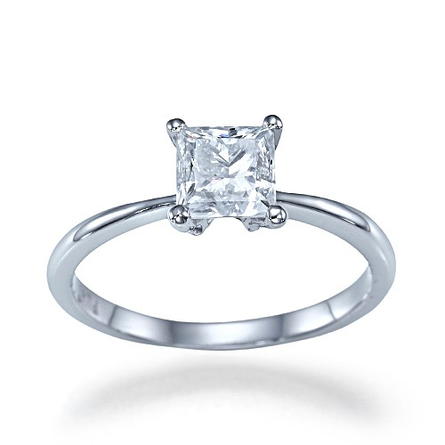 Square Engagement Rings Solitaire
