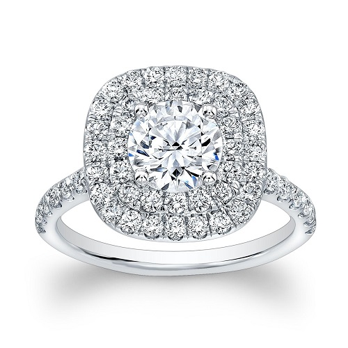 Pave Engagement Rings Halo