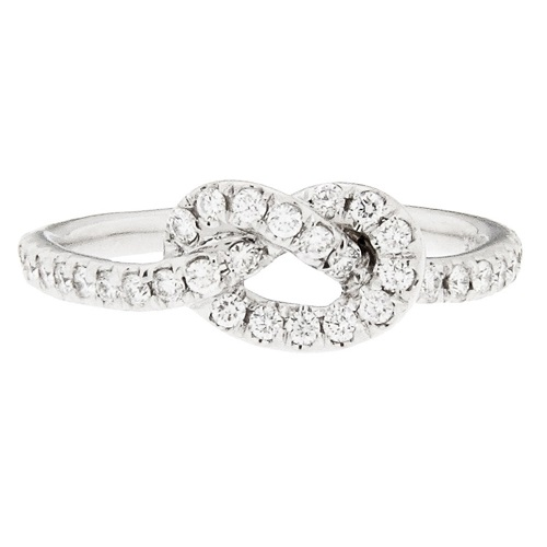 Pave Engagement Rings Knotted