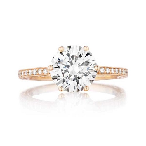 Pave Engagement Rings Multi-Tone