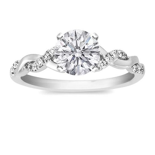 Pave Engagement Rings Twisted