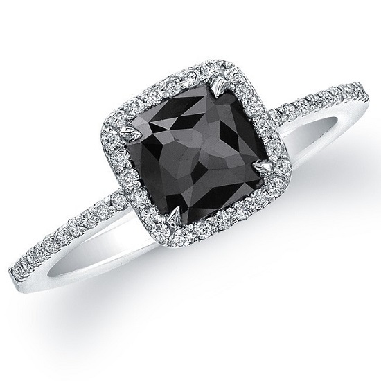Black Engagement Ring