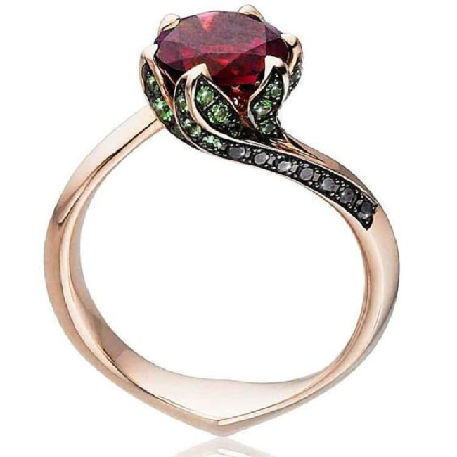 Engagement Rings Inspired by Nature - Blossoming Ruby