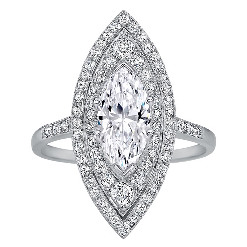 Dreamy Marquise Engagement Rings to Inspire - Pave