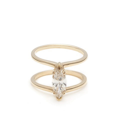 Dreamy Marquise Engagement Rings to Inspire - Double Band