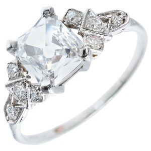 Incredible Square Cut Engagement Rings - Ornate
