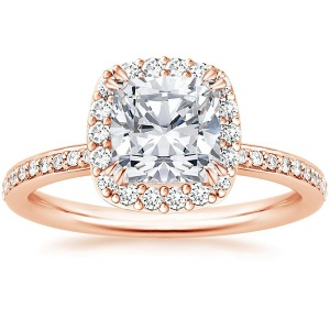 Incredible Square Cut Engagement Rings - Rose Gold