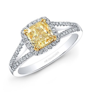 Incredible Square Cut Engagement Rings - Split Shank