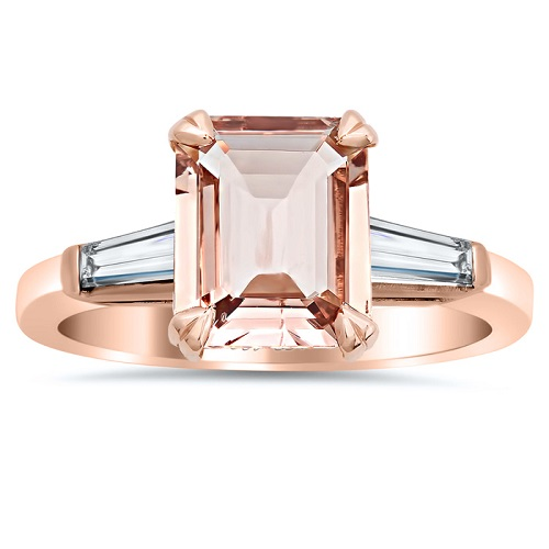 Elegant Emerald Cut Engagement Rings - Baguettes
