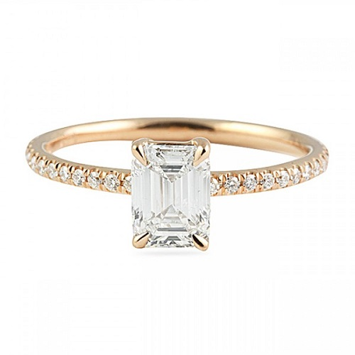 Elegant Emerald Cut Engagement Rings - Solitaire