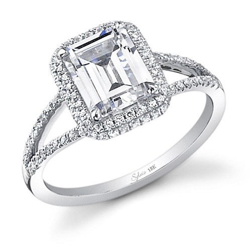 Elegant Emerald Cut Engagement Rings - Split Band