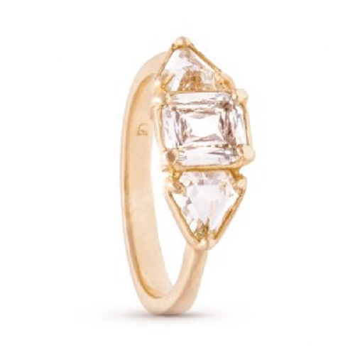 Elegant Emerald Cut Engagement Rings - Three Stone