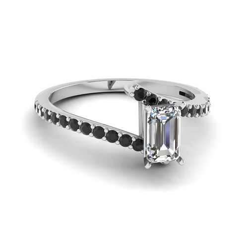 Elegant Emerald Cut Engagement Rings - Twisted Band