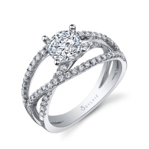 Spectacular Split Band Engagement Rings - Criss Cross