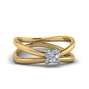 Spectacular Split Band Engagement Rings - Double Split