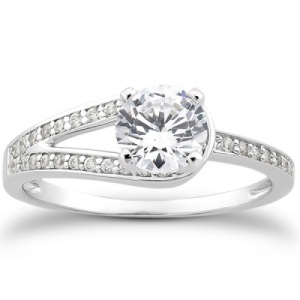 Spectacular Split Band Engagement Rings - One Sided