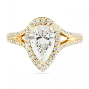 Spectacular Split Band Engagement Rings - Pear