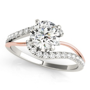 Spectacular Split Band Engagement Rings - Two Tone