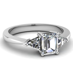 Gorgeous Trillion Engagement Rings - 3 Stone