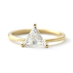 Gorgeous Trillion Engagement Rings - Minimal