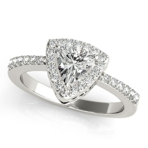 Gorgeous Trillion Engagement Rings - Pave