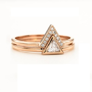 Gorgeous Trillion Engagement Rings - Stacked
