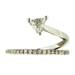 Gorgeous Trillion Engagement Rings - Winding