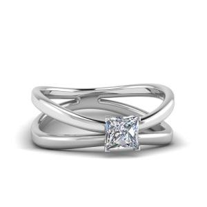 Exquisite Platinum Engagement Rings - Reverse Split