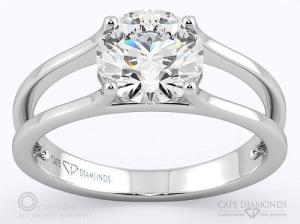 Exquisite Platinum Engagement Rings - Split Band