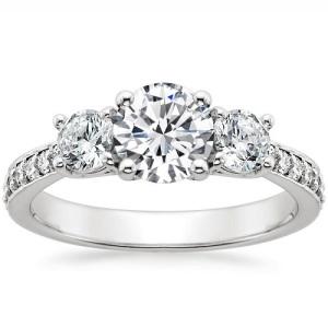 Exquisite Platinum Engagement Rings - Three Stone