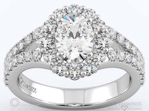 Incredible Oval Engagement Rings to Inspire - Halo Split Band