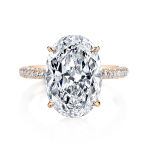 Incredible Oval Engagement Rings to Inspire - Two Tone