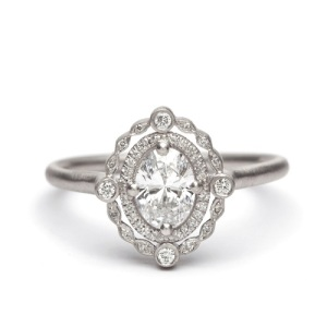 Incredible Oval Engagement Rings to Inspire - Vintage Halo