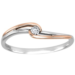 Dreamy Two Tone Engagement Rings - Delicate