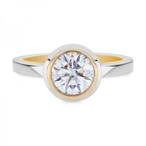 Dreamy Two Tone Engagement Rings - Solitaire