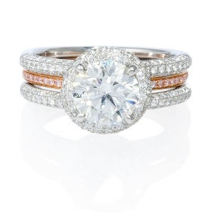 Dreamy Two Tone Engagement Rings - Stacked