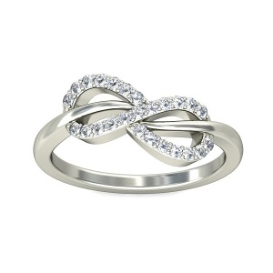 Dreamy Infinity Engagement Rings - Pave