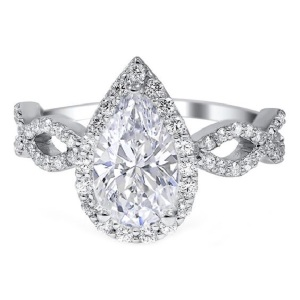Dreamy Infinity Engagement Rings - Pear