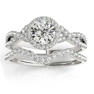 Dreamy Infinity Engagement Rings - Stacked