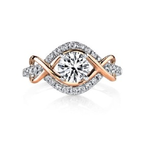 Dreamy Infinity Engagement Rings - Two Tone