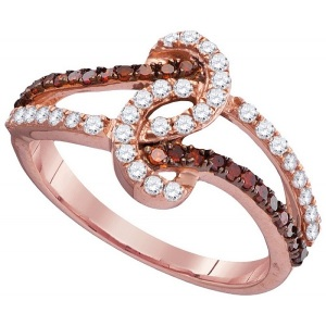 Tantalising Twisted Band Engagement Rings to Inspire - Knotted Pave Twist