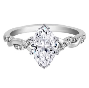 Tantalising Twisted Band Engagement Rings to Inspire - Marquise Twist