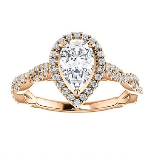 Tantalising Twisted Band Engagement Rings to Inspire - Pave Pear Twist
