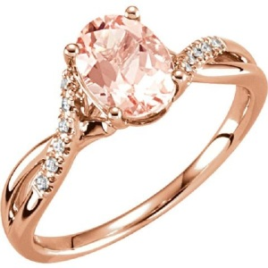 Tantalising Twisted Band Engagement Rings to Inspire - Rose Twist